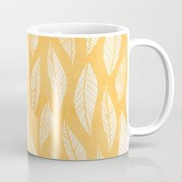 Modern Tropical Leaf Pattern - Yellow Coffee Mug