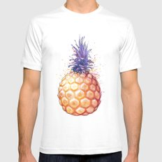 Fat Pineapple 3 White MEDIUM Mens Fitted Tee