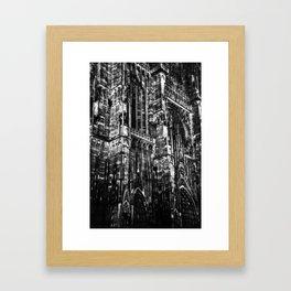 Cologne Cathedral (Kölner Dom), Germany - Black & White Framed Art Print