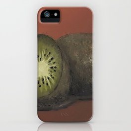 Kiwi, oil painting by Luna Smith, LuArt Gallery, fruits iPhone Case