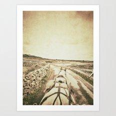 Horseback Ride in the Aran Islands Art Print