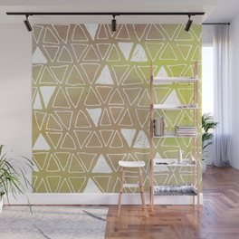 Tribal Watercolours - in Sunset Yellow Wall Mural