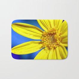 Sunflower against a Bright Blue Sky Bath Mat