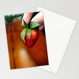 Strawberry bath Stationery Cards