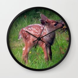Sweet Fawn Wall Clock