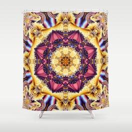 Summer feelings, fractal abstract kaleidoscope pattern Shower Curtain