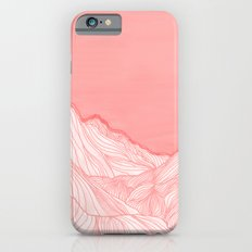 Lines in the mountains - pink Slim Case iPhone 6s