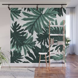 Philo Hope - Tropical Jungle Leaves Pattern #6 #tropical #decor #art #society6 Wall Mural