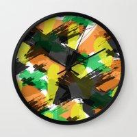 cara Wall Clocks featuring Cara by Gonpart