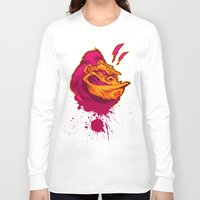ape Long Sleeve T-shirts featuring SHREWD APE by BeastWreck