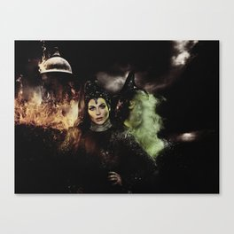 Sisters: The Evil Queen and The Wicked Witch Canvas Print
