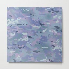 Camouflage: Arctic Purple Metal Print