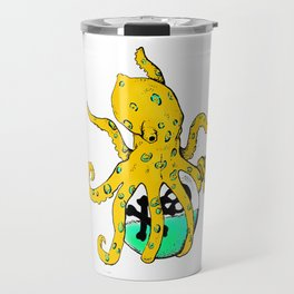 Blue Ringed Octopus , Colour (inktober day one: Poisonous) Travel Mug