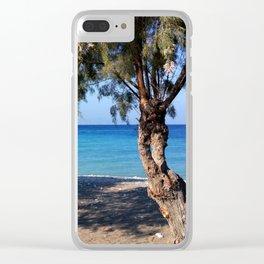 The Perfect Greek Beach Clear iPhone Case