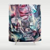 imagine Shower Curtains featuring Imagine  by ART de Luna