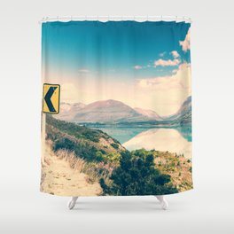 Lake Road Sign Shower Curtain