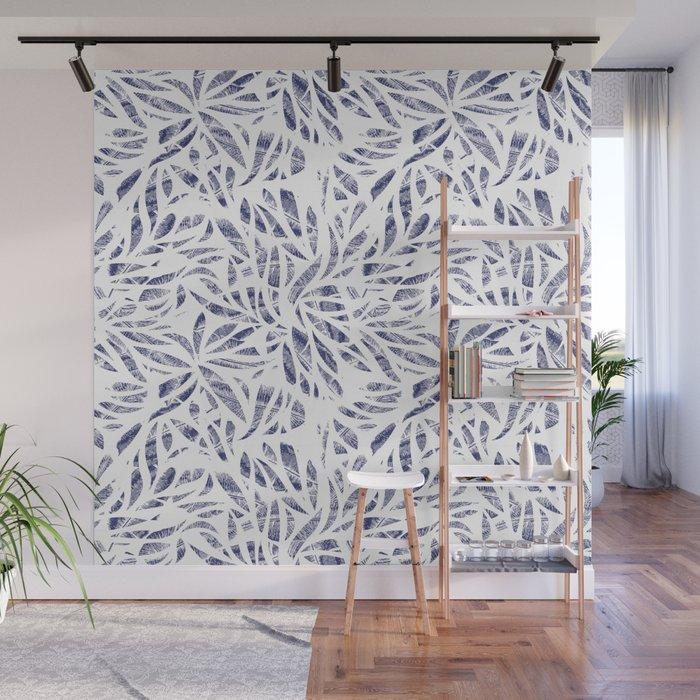 Shibori Plants Wall Mural