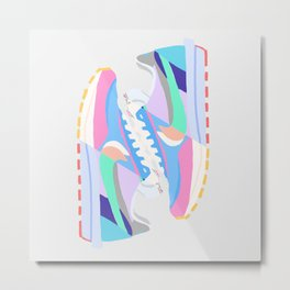 POP SNEAKERS Metal Print