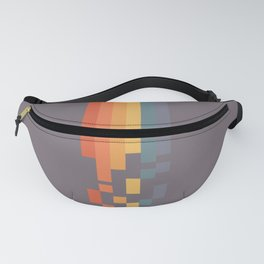 Classic 70s 80s STyle Retro Stripes Pixel Drops - Aimatsu Fanny Pack