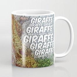 WordArt Giraffe Coffee Mug