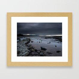 """Fisherman's friend."" Kilve Beach, Somerset Framed Art Print"