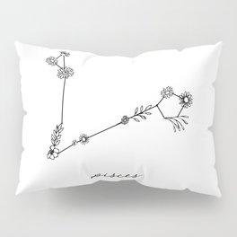 Pisces Floral Zodiac Constellation Pillow Sham