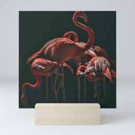 Flamingos in the night of Africa Mini Art Print