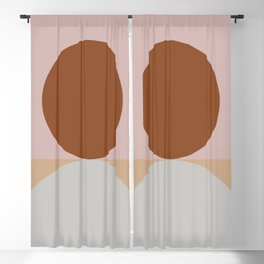 Abstract Geometric #fallwinter #colortrend #decor Blackout Curtain