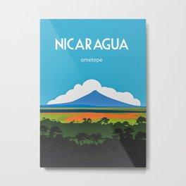Nicaragua Travel Poster Metal Print