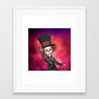 mad hatter Framed Art Prints featuring Mad Hatter by apgme