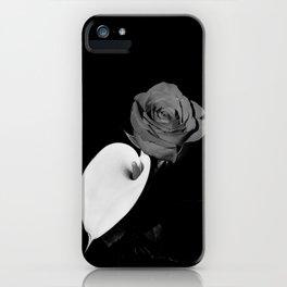 Calla Lily & Rose - B&W iPhone Case