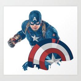 CaptainAmerica Super Hero Character Art Print