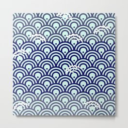 Catch the Seigaiha (Wave) 1 Metal Print