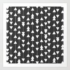 Arrowhead - Black Art Print
