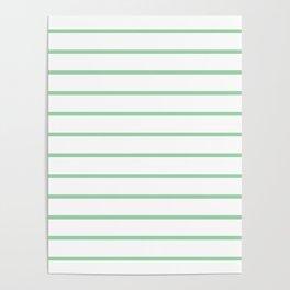 Mint Green Breton Stripes Poster