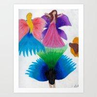 fairies Art Prints featuring Fairies  by MandiMccl