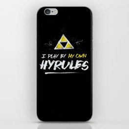 Legend of Zelda Inspired Type I Play by My Own Hyrules iPhone Skin