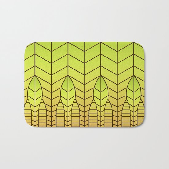 LET THERE BE LIGHT (abstract geometric) Bath Mat