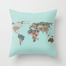 Louis Armstrong Told Us So (teal) Throw Pillow