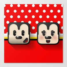 sweethearts, mickey and minnie Canvas Print