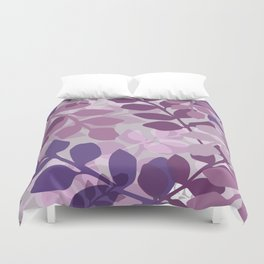 Ultra Violet Purple Lavender Leaves Pattern Duvet Cover