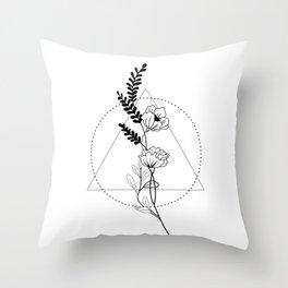 Floral mind Throw Pillow