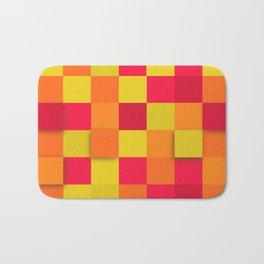 Squares Colorful Geometric Background Bath Mat