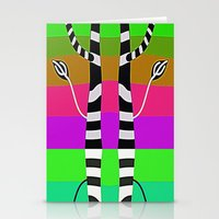 discount Stationery Cards featuring Zebra Trees - Reflex by Roxana Jordan