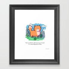 Giant Stealth Kitten Framed Art Print