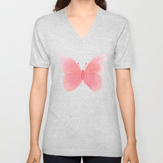 Watermelon pink butterfly by deeainlondon