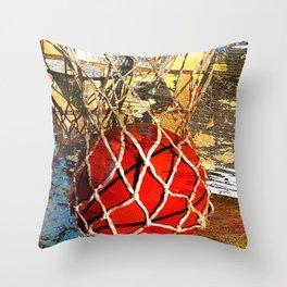 Basketball and net Throw Pillow