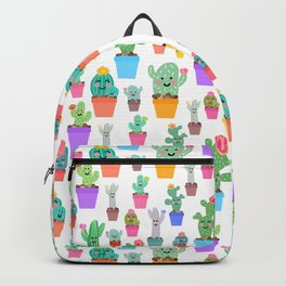 Sunny Happy Cactus Family Backpack