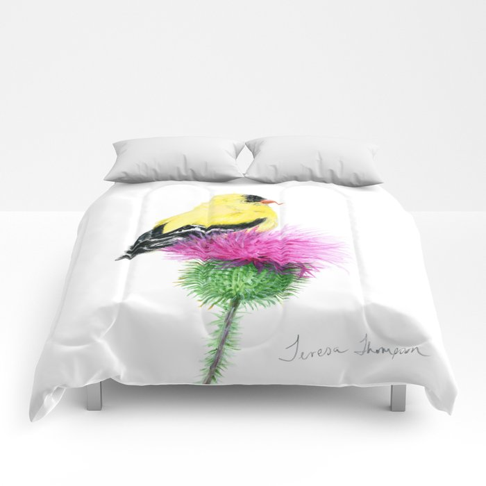 Little Goldfinch by Teresa Thompson Comforters