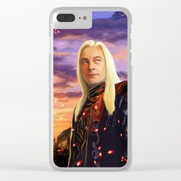 Lucius Malfoy Clear iPhone Case